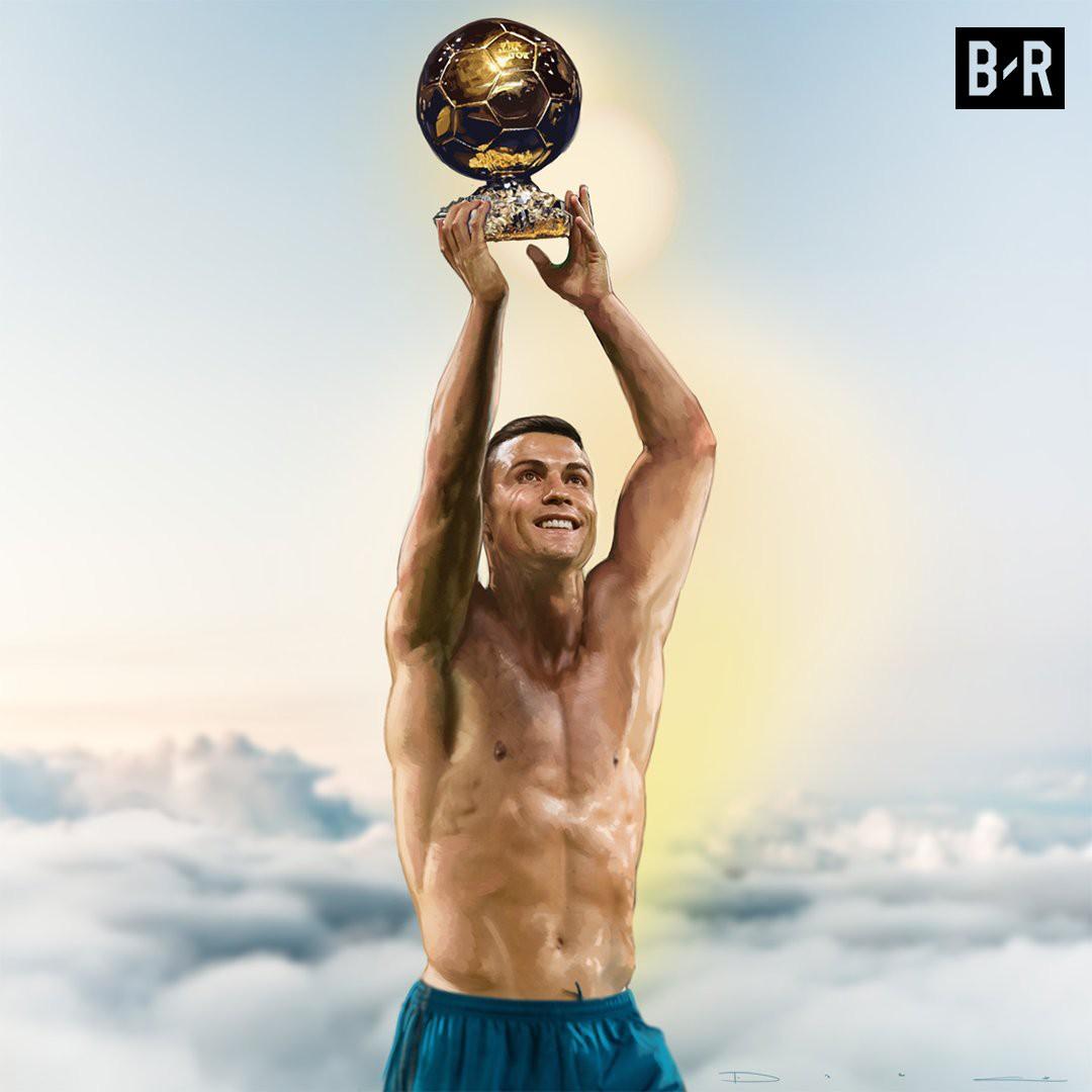Ảnh chế: Ronaldo một tay bế Quả bóng vàng, một tay ẵm... Messi - Ảnh 1.
