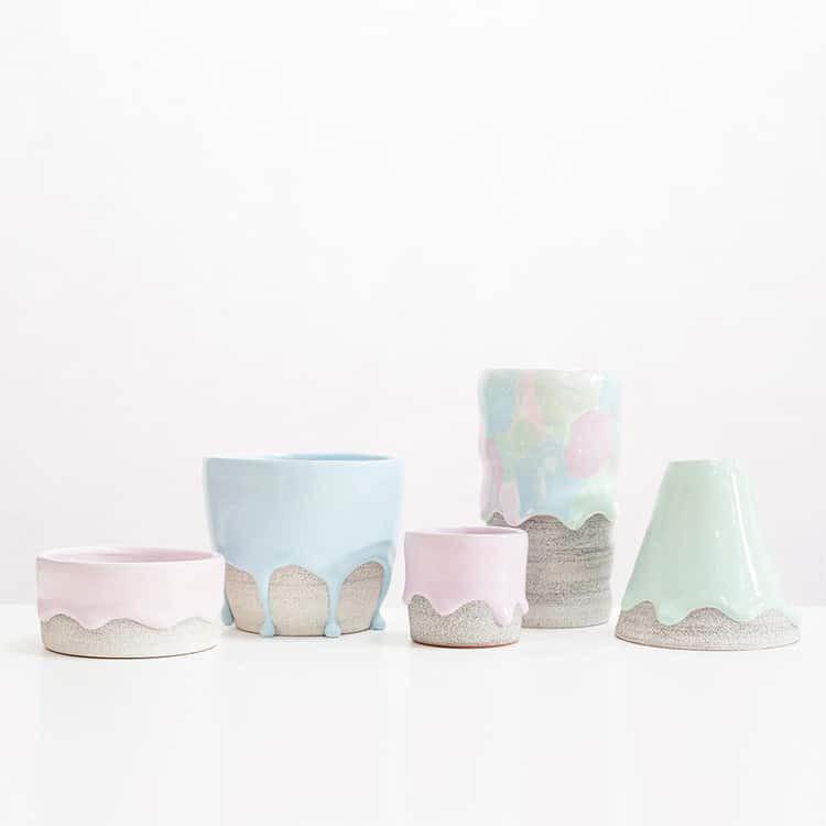 Bộ sưu tập cốc chén từ gốm nặn tay đẹp lung linh tựa cầu vồng - Ảnh 7.