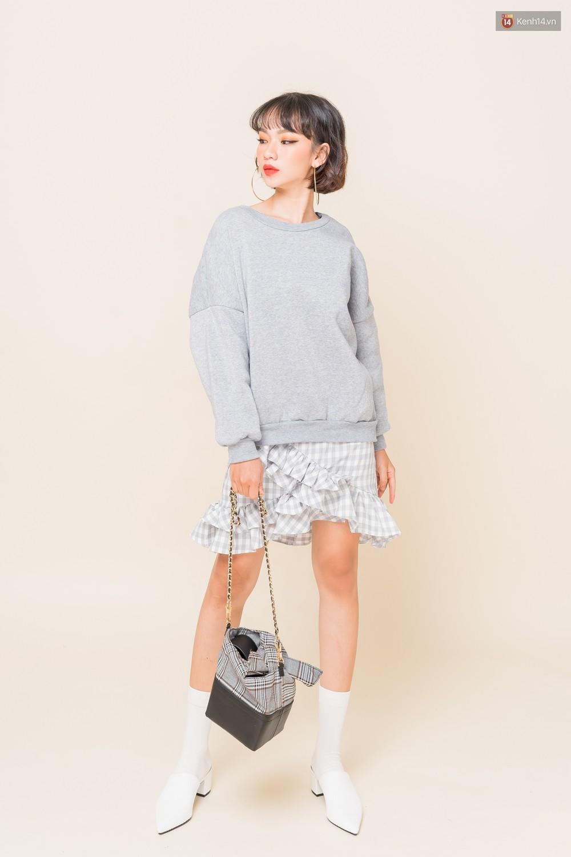 Mix áo len, áo nỉ với chân váy - Công thức nhắm mắt diện cũng đẹp để các nàng áp dụng ngay lúc này - Ảnh 2.
