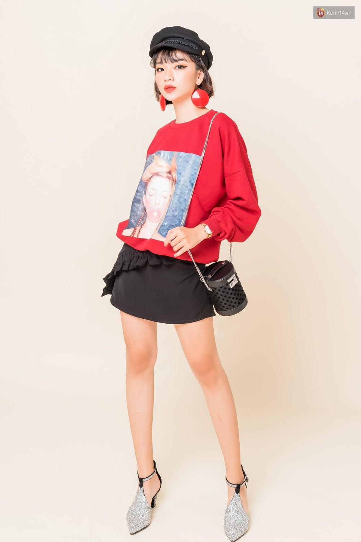 Mix áo len, áo nỉ với chân váy - Công thức nhắm mắt diện cũng đẹp để các nàng áp dụng ngay lúc này - Ảnh 14.
