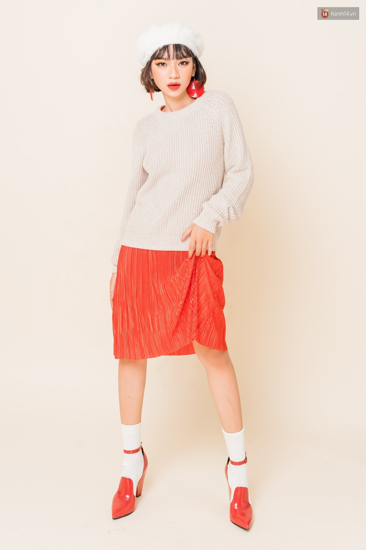 Mix áo len, áo nỉ với chân váy - Công thức nhắm mắt diện cũng đẹp để các nàng áp dụng ngay lúc này - Ảnh 5.