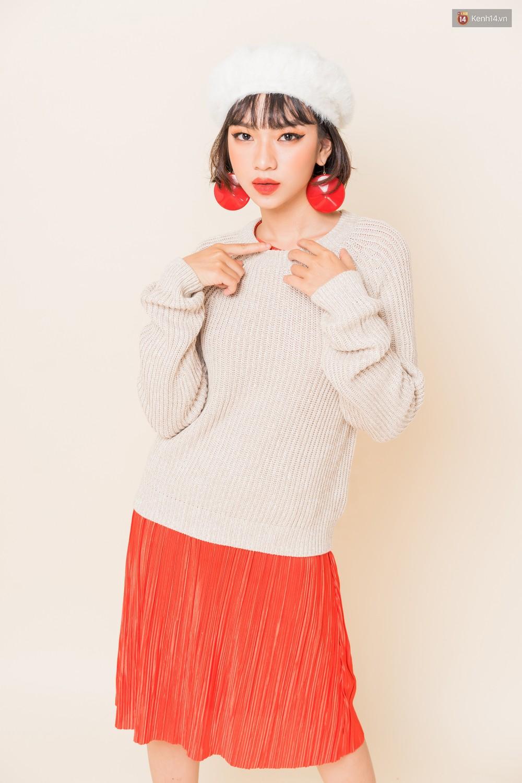 Mix áo len, áo nỉ với chân váy - Công thức nhắm mắt diện cũng đẹp để các nàng áp dụng ngay lúc này - Ảnh 7.