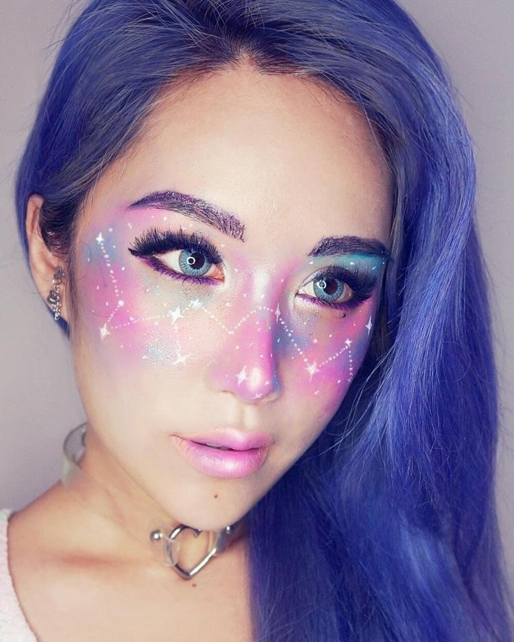 Trào lưu trang điểm biến đôi mắt thành dải thiên hà lung linh - Ảnh 11.