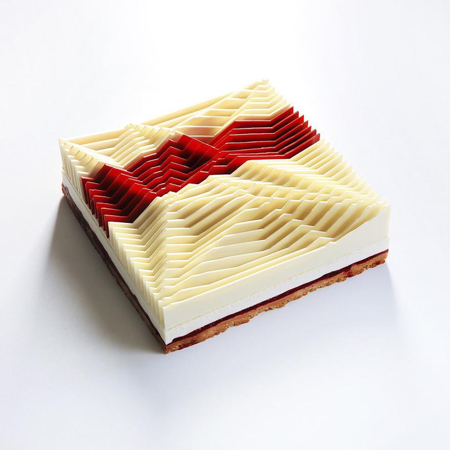 Những chiếc bánh hình học 3D đẳng cấp đã đạt tới cảnh giới đỉnh cao nghệ thuật - Ảnh 13.