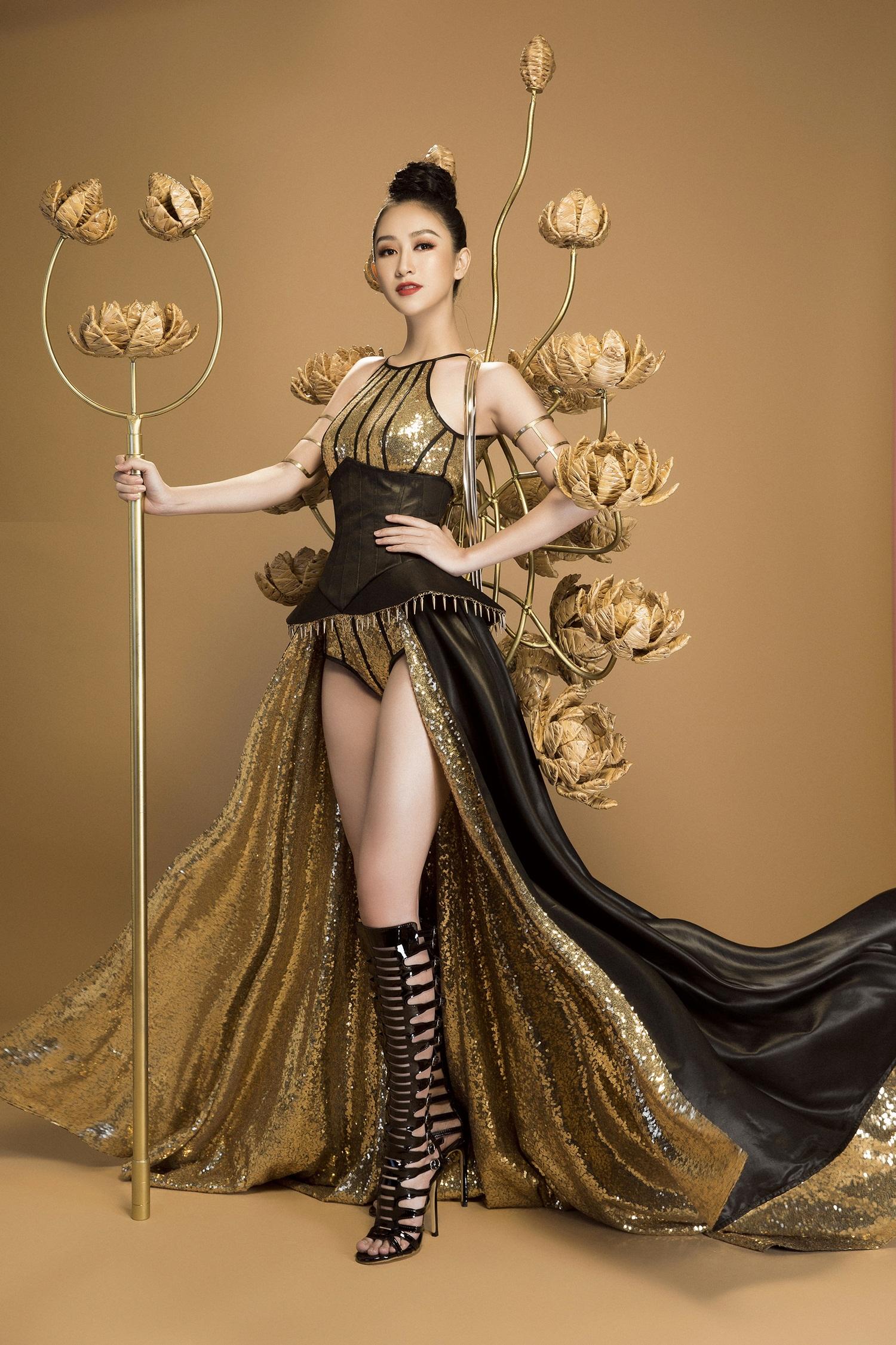 Không phải Áo dài, đây mới là trang phục truyền thống mà Hà Thu lựa chọn để tranh tài tại Miss Earth 2017 - Ảnh 3.