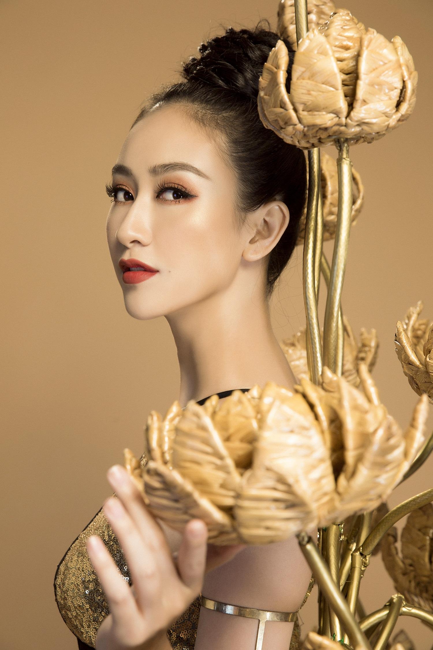 Không phải Áo dài, đây mới là trang phục truyền thống mà Hà Thu lựa chọn để tranh tài tại Miss Earth 2017 - Ảnh 5.