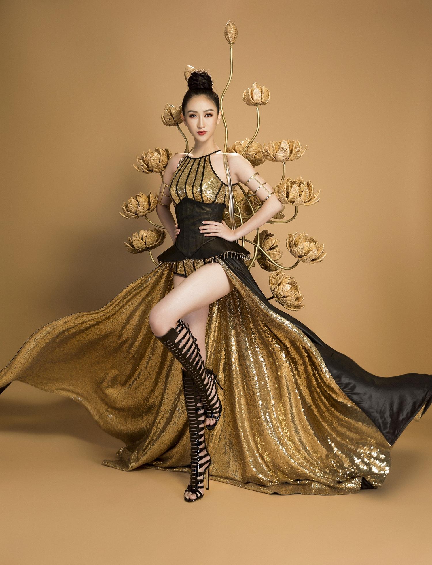 Không phải Áo dài, đây mới là trang phục truyền thống mà Hà Thu lựa chọn để tranh tài tại Miss Earth 2017 - Ảnh 7.