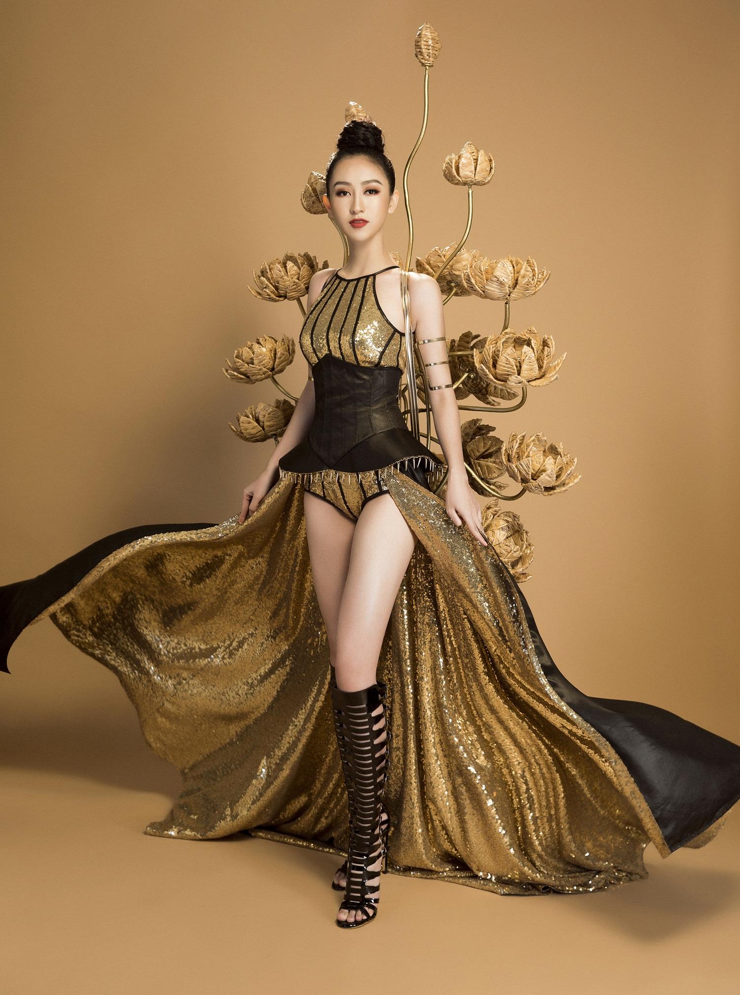 Không phải Áo dài, đây mới là trang phục truyền thống mà Hà Thu lựa chọn để tranh tài tại Miss Earth 2017 - Ảnh 8.