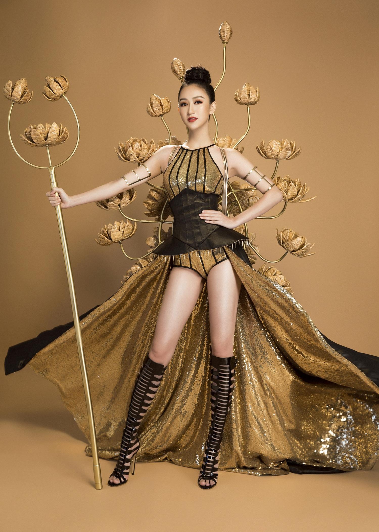 Không phải Áo dài, đây mới là trang phục truyền thống mà Hà Thu lựa chọn để tranh tài tại Miss Earth 2017 - Ảnh 9.