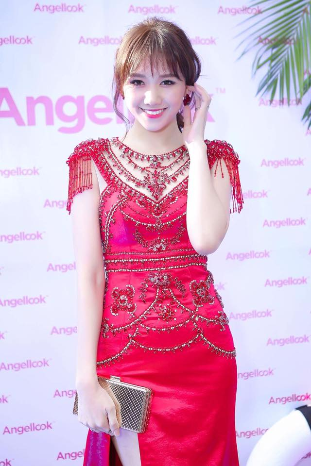 Hari Won mặc lại đầm đỏ quyến rũ mà Chi Pu diện từ nửa năm trước, ai đẹp hơn? - Ảnh 1.