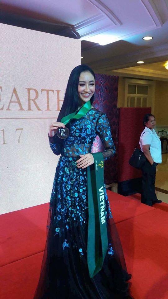 Hà Thu tiếp tục ghi điểm với giải đồng phần thi tài năng tại Hoa hậu Trái đất 2017 - Ảnh 1.