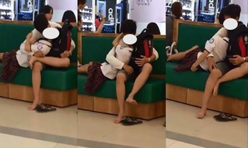 Cứ ngỡ siêu thị là nhà mình, đôi nam nữ thản nhiên trượt dài trên ghế như chốn không người - Ảnh 3.