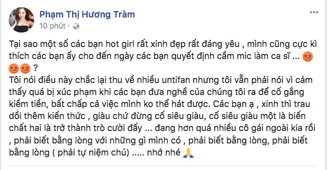 Khán giả đồng tình, đứng về phía Hương Tràm sau status đá đểu giọng hát của Chi Pu! - Ảnh 3.