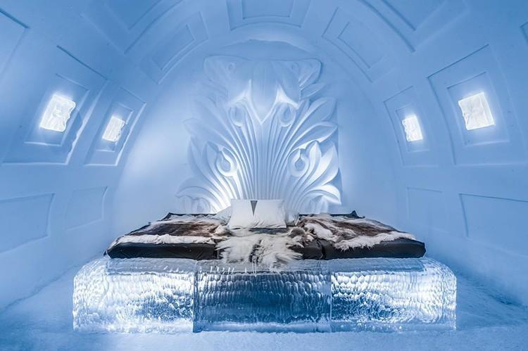 Ghé thăm khách sạn băng giá đẹp như cung điện mùa đông ở xứ Bắc Âu - Ảnh 1.