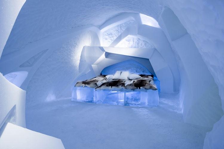 Ghé thăm khách sạn băng giá đẹp như cung điện mùa đông ở xứ Bắc Âu - Ảnh 7.