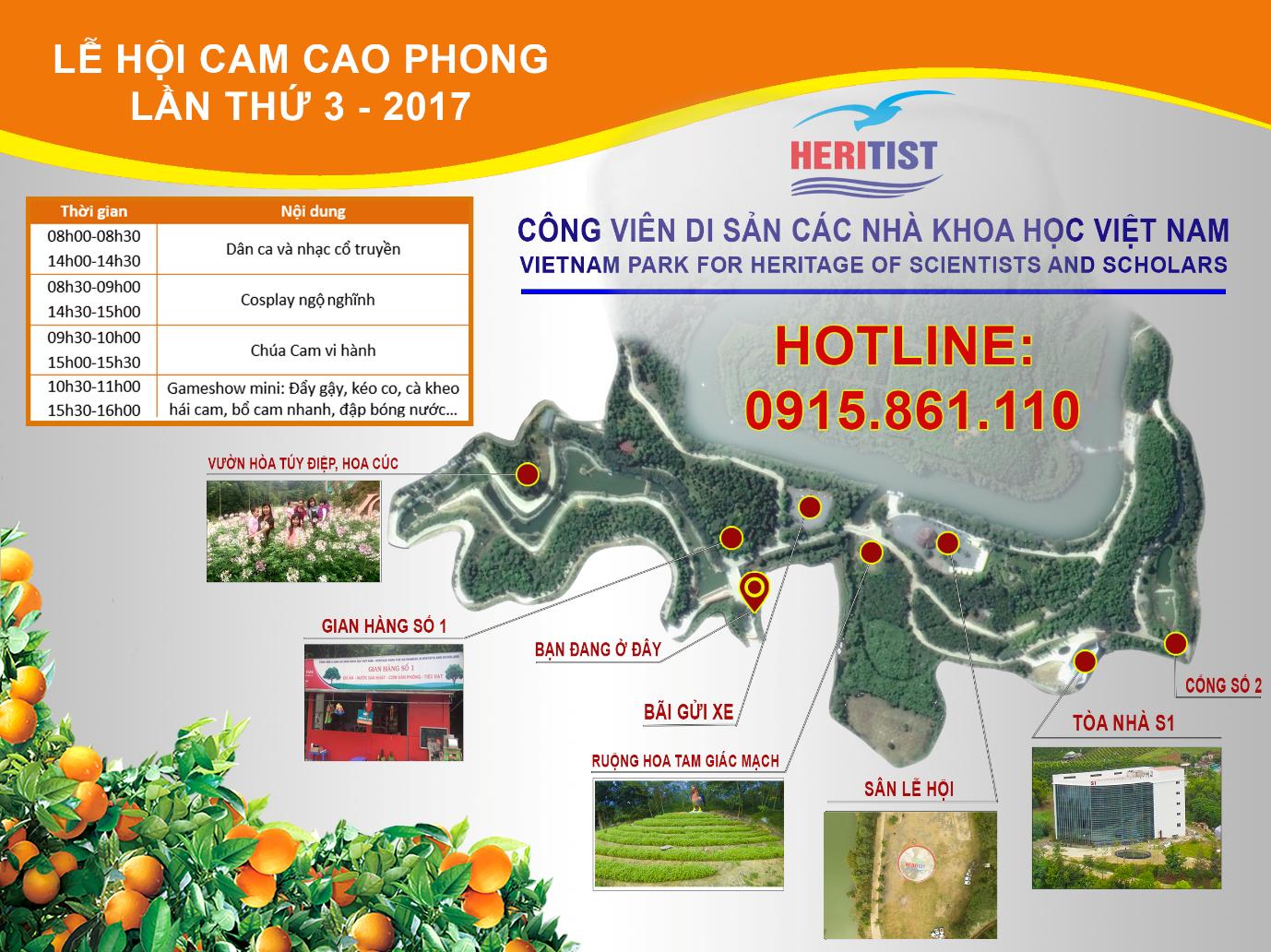 Rực nở sắc hoa chào đón lễ hội Cam Cao Phong lần thứ 3 tại Heritist Park - Ảnh 1.