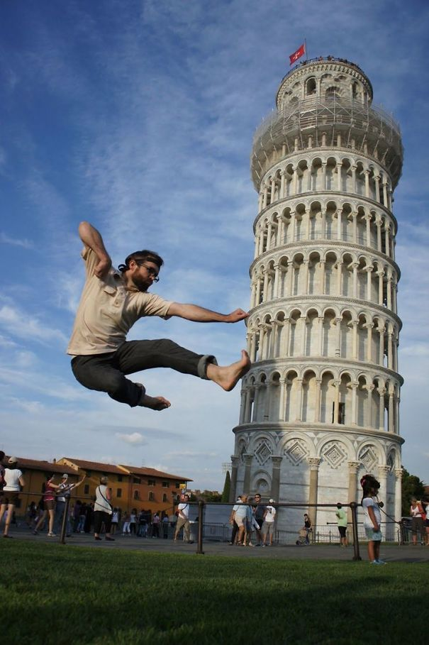 16 kiểu chụp ảnh sống ảo sáng tạo với tháp nghiêng Pisa - Ảnh 23.