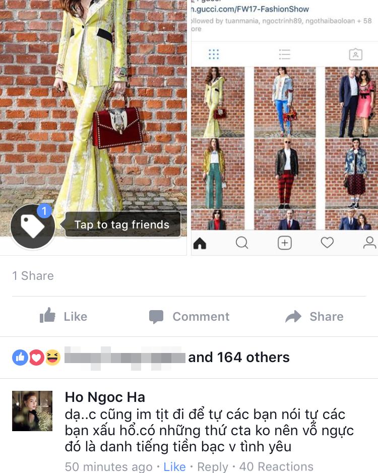 Vừa xôn xao tin đồn bị bơ vì mặc xấu, Instagram của Gucci lập tức đăng ảnh của Hồ Ngọc Hà - Ảnh 3.