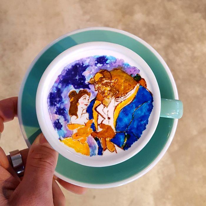 15 bức tranh tuyệt đẹp được vẽ trên tách cà phê - Ảnh 14.