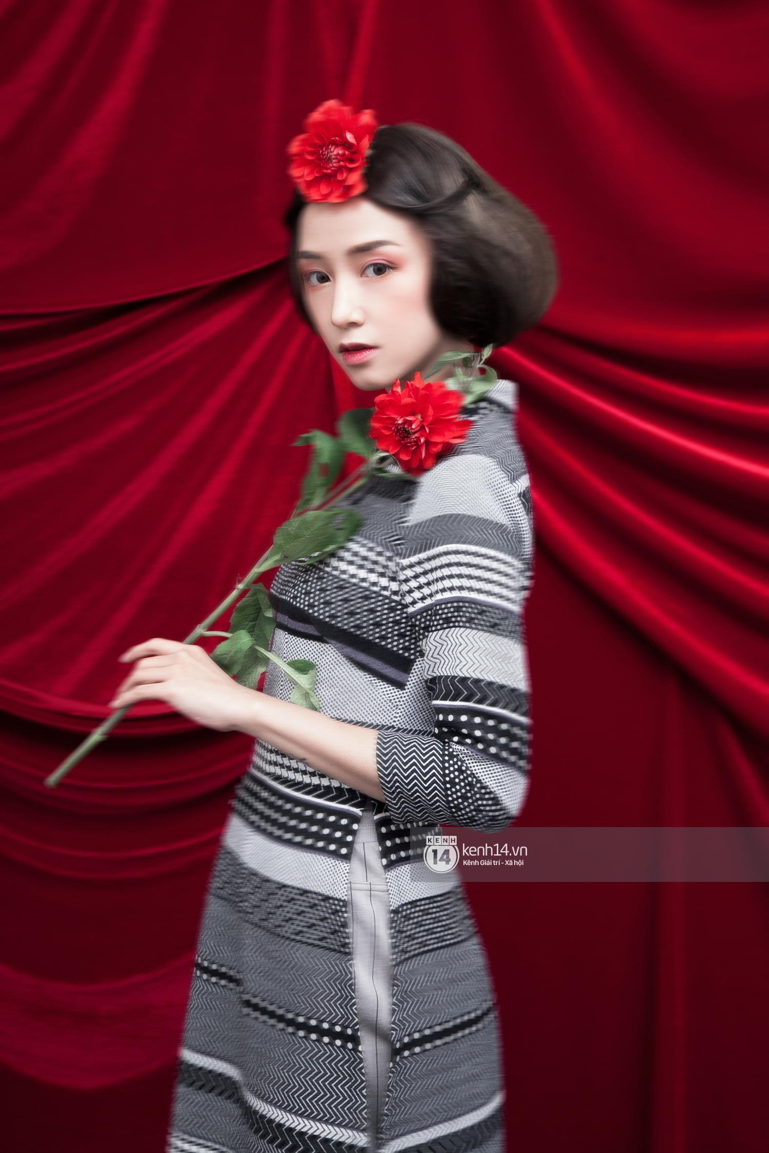 3 nàng hot girl Salim, Sun HT, Lê Vi xinh lạ trong những mẫu áo dài cách tân độc đáo - Ảnh 4.