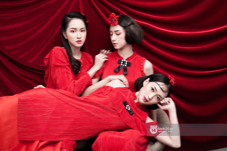 3 nàng hot girl Salim, Sun HT, Lê Vi xinh lạ trong những mẫu áo dài cách tân độc đáo - Ảnh 10.
