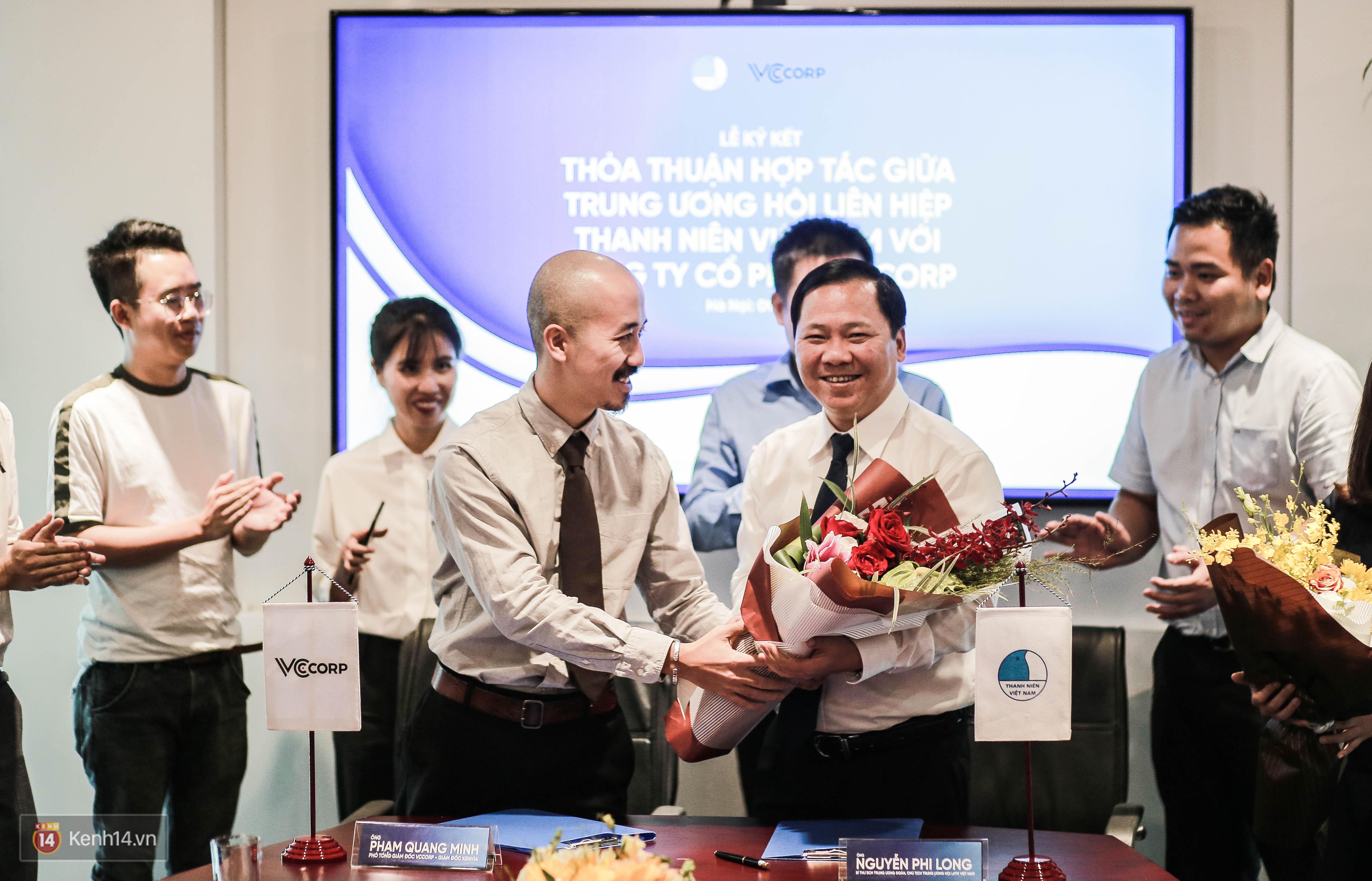 Lễ ký kết thỏa thuận hợp tác giữa TW Hội Liên hiệp Thanh niên Việt Nam và Công ty CP VCCorp - Ảnh 9.