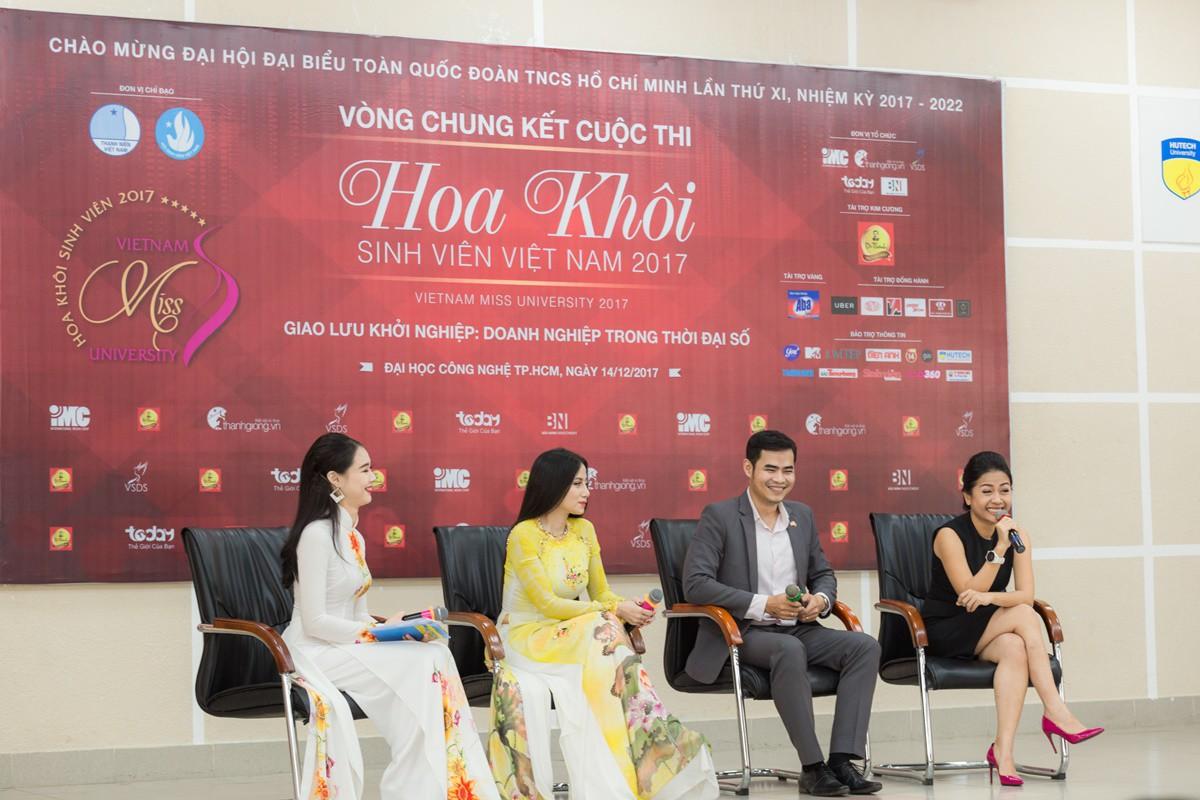 Buổi giao lưu của top 45 Hoa khôi Sinh viên Việt Nam 2017 với các doanh nhân thành đạt - Ảnh 1.