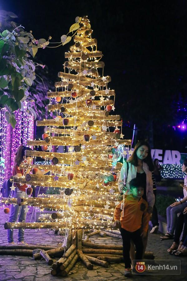 Hàng trăm bạn trẻ đổ xô về khu vườn ánh sáng lung linh độc nhất Sài Gòn giữa tiết trời se lạnh - Ảnh 8.