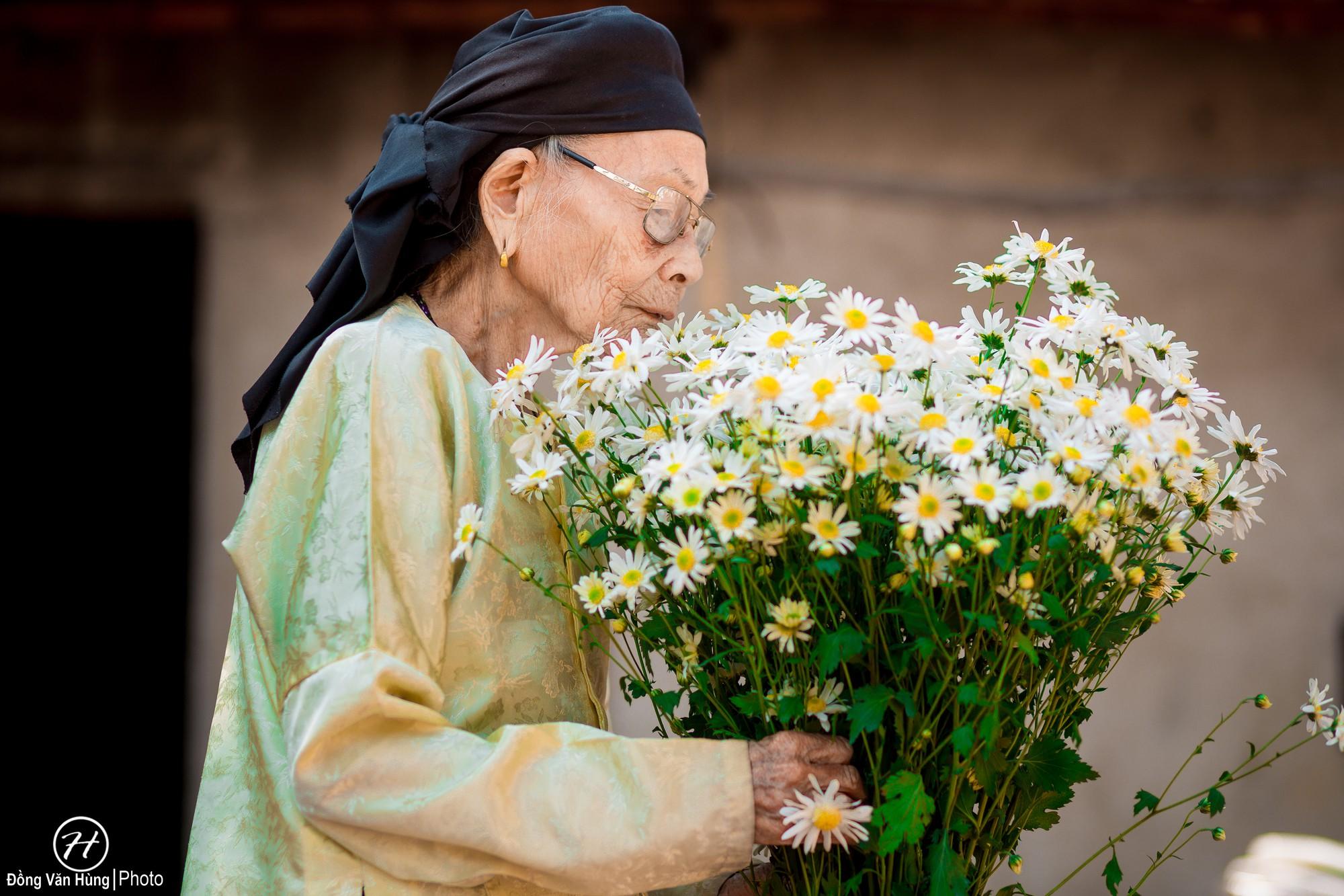 Người mẫu 99 tuổi điệu đà tạo dáng bên hoa cúc họa mi - Ảnh 9.