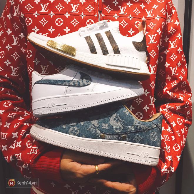 9x Việt độ giày từ đồ Louis Vuitton x Supreme hàng chục triệu đồng đang khiến giới chơi sneakers phát sốt - Ảnh 4.