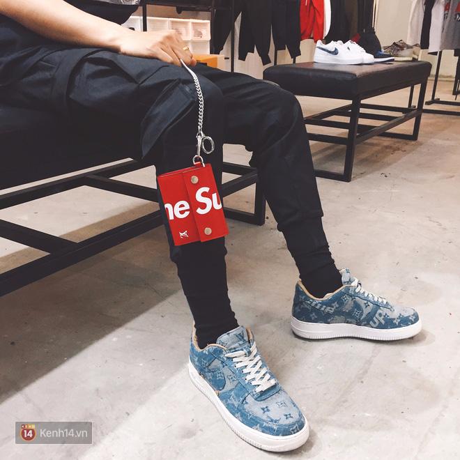 9x Việt độ giày từ đồ Louis Vuitton x Supreme hàng chục triệu đồng đang khiến giới chơi sneakers phát sốt - Ảnh 29.