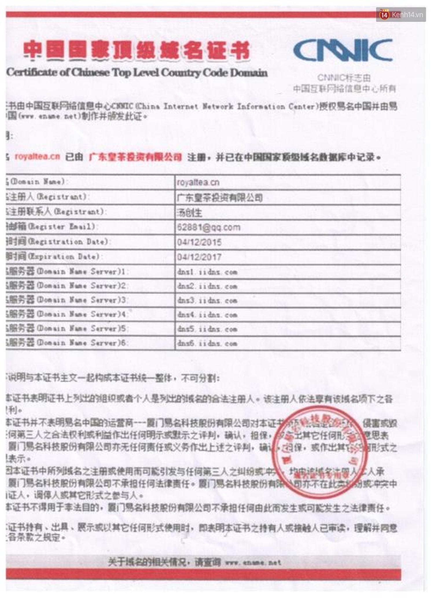 Chủ sở hữu của các chuỗi Royaltea tại Hà Nội, Sài Gòn: Thương hiệu Royaltea không được bảo hộ nên ai cũng có thể kinh doanh mà không vi phạm pháp luật - Ảnh 6.