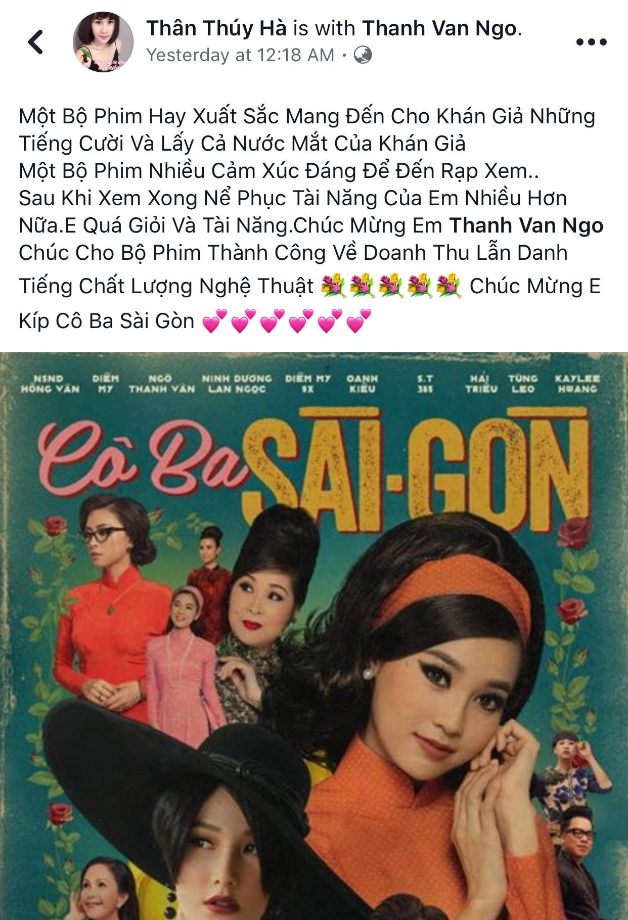 Tăng Thanh Hà, Lương Mạnh Hải và nhiều sao Việt đồng loạt khen ngợi Cô Ba Sài Gòn hết lời - Ảnh 18.