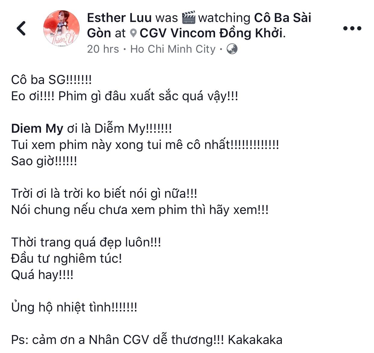 Tăng Thanh Hà, Lương Mạnh Hải và nhiều sao Việt đồng loạt khen ngợi Cô Ba Sài Gòn hết lời - Ảnh 15.