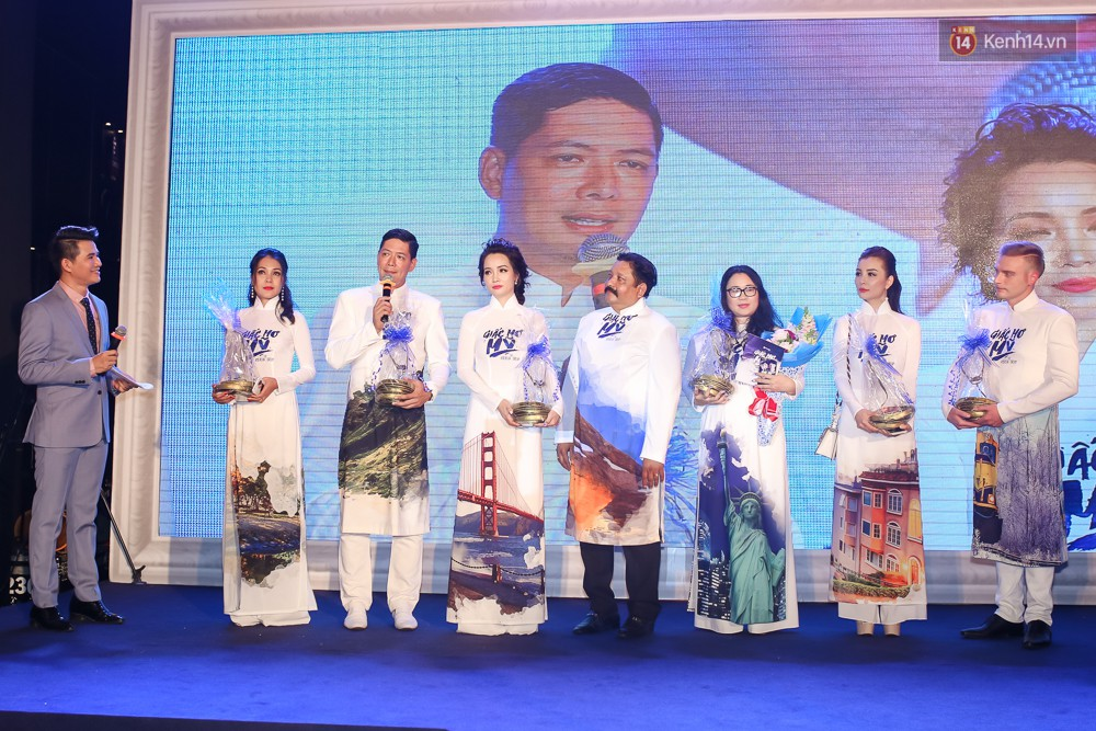 Bình Minh - Mai Thu Huyền diện áo dài trắng in tên phim mình đóng trong buổi ra mắt - Ảnh 12.