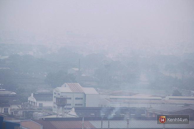 Sương mù dày đặc như Đà Lạt bao phủ khắp Sài Gòn từ sáng đến trưa - Ảnh 11.
