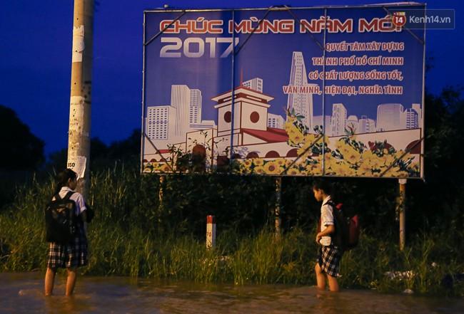 Clip, ảnh: Triều cường đạt đỉnh ở Sài Gòn, trẻ em thích thú bơi lội khi đường biến thành sông - Ảnh 16.