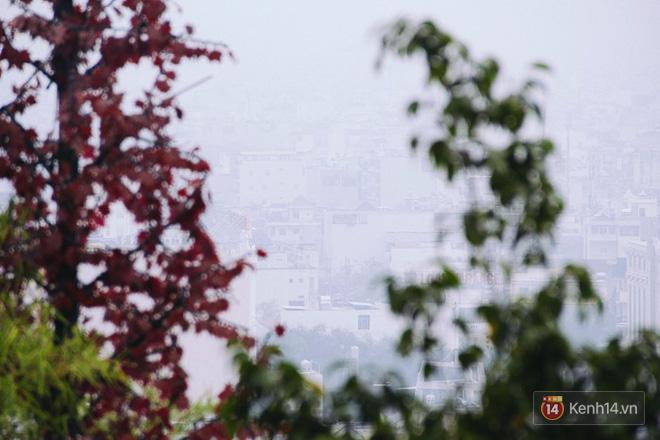 Sương mù dày đặc như Đà Lạt bao phủ khắp Sài Gòn từ sáng đến trưa - Ảnh 10.