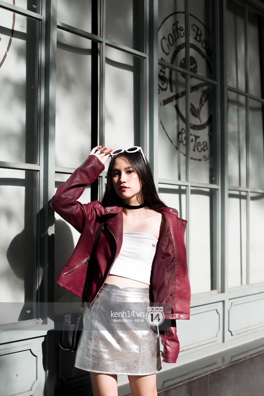 Street style 2 miền: biker jacket, màu đỏ và chân váy mini là 3 thần chú trong từ điển mix đồ của giới trẻ - Ảnh 14.