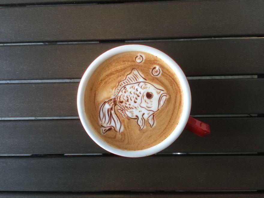 Triển lãm tranh hoạt hình cute trên những ly cà phê - Ảnh 17.