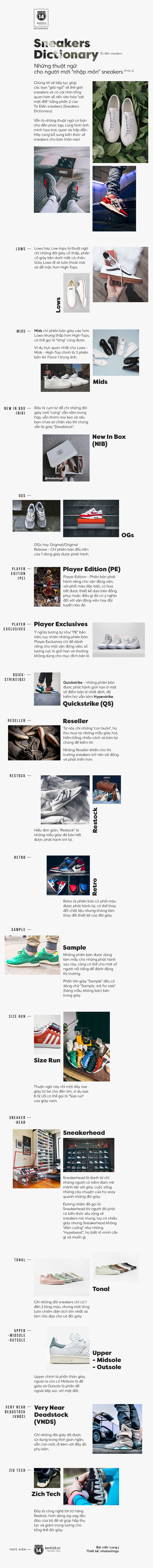 """Sneakers Dictionary - Những thuật ngữ cho người mới """"nhập môn"""" sneakers (Phần 2) - Ảnh 1."""