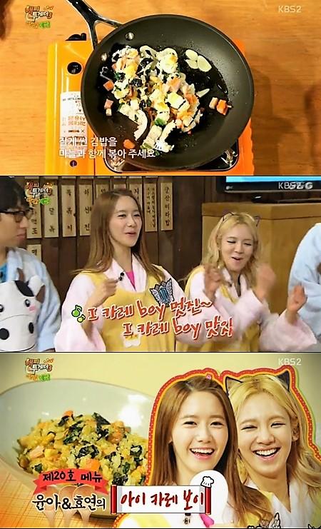 Học Yoona và Hyoyeon (SNSD) cách biến hóa kimbap thành phiên bản riêng độc đáo ra sao - Ảnh 1.