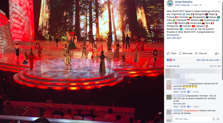 Ghi điểm trong đêm tổng duyệt, Đỗ Mỹ Linh xuất sắc lọt thẳng vào top 40 trước thềm chung kết Miss World 2017 - Ảnh 1.