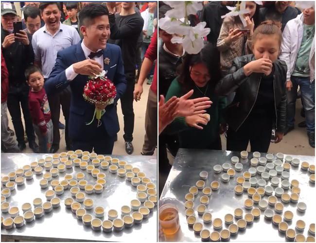 Đám cưới độc ở Lạng Sơn: Nhà trai uống hết 100 chén rượu mới được vào đón dâu gây xôn xao - Ảnh 5.