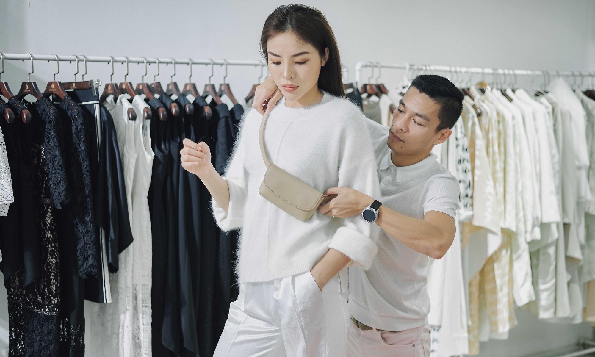 Kỳ Duyên ngày một ra dáng fashion icon, đọ sắc với Phạm Hương trong buổi thử đồ của NTK Adrian Anh Tuấn - Ảnh 7.