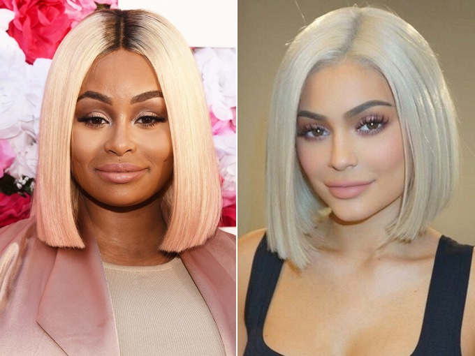t c m i kylie jenner tr ng gi ng h t ch d u l m chi u blac chyna. Black Bedroom Furniture Sets. Home Design Ideas
