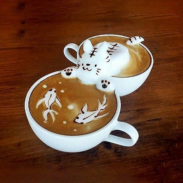 15 tác phẩm tranh vẽ latte khiến hội ghiền cà phê thích mê - Ảnh 21.