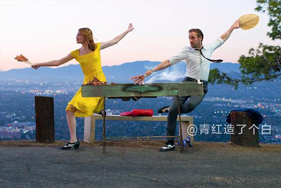 Cười vỡ bụng với điệu nhảy đôi lãng mạn trong La La Land dưới bàn tay các thánh Photoshop - Ảnh 16.