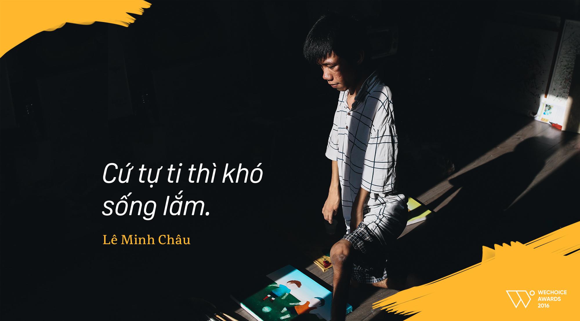 Lê Minh Châu - Từ cậu bé khuyết tật ở làng Hòa Bình đến họa sĩ vẽ tranh bằng miệng trong phim tài liệu tranh - Ảnh 6.