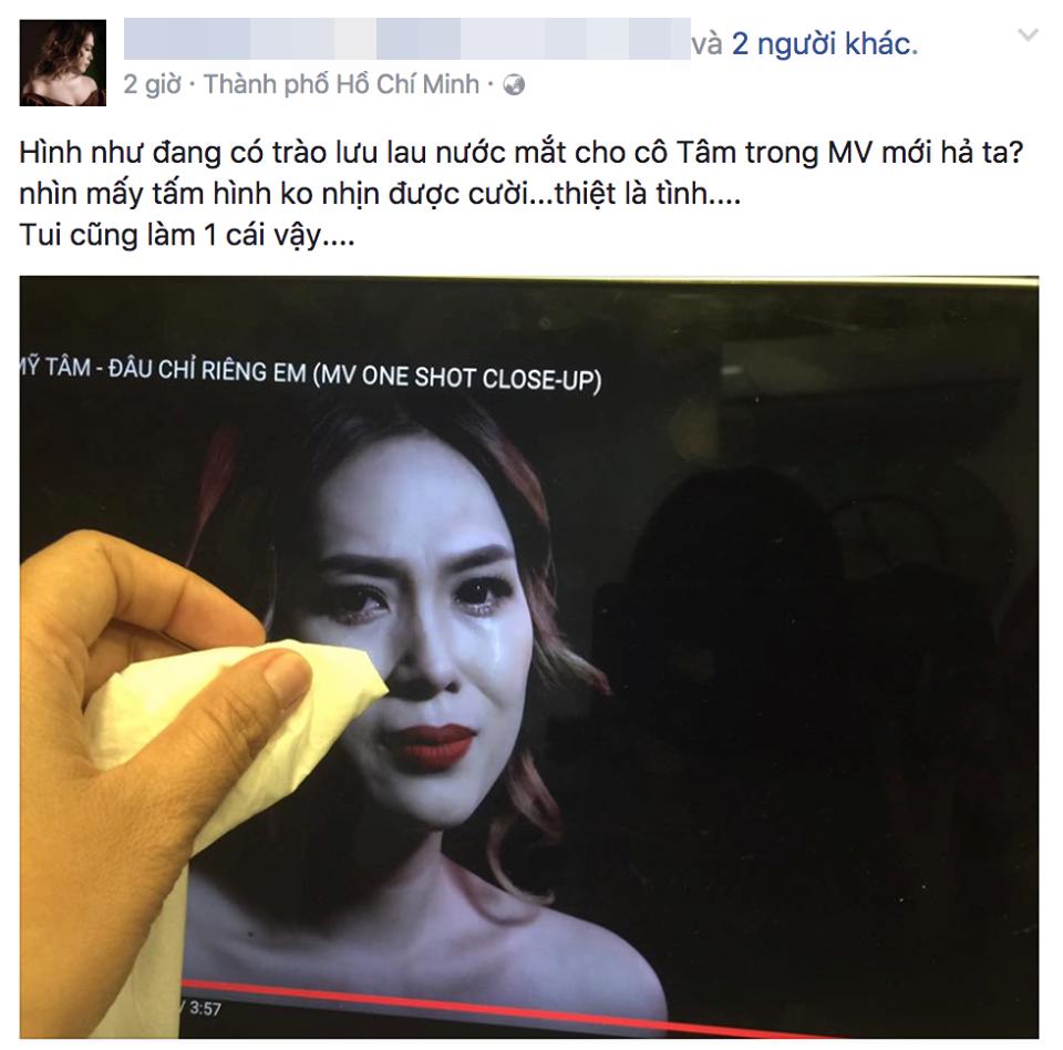 Cảnh Mỹ Tâm khóc nức nở trong MV mới trở thành nguồn cảm hứng vô tận của dân mạng - Ảnh 3.